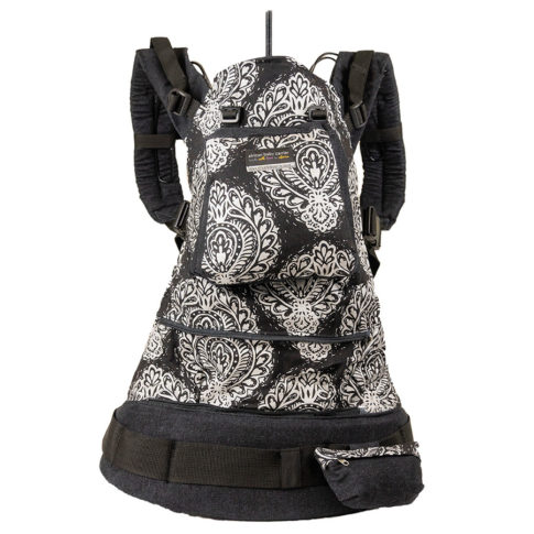 African Baby Carrier Black Paisley