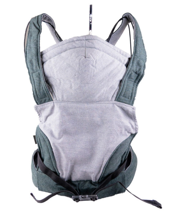 African Baby Carrier Newborn Grey Hemp