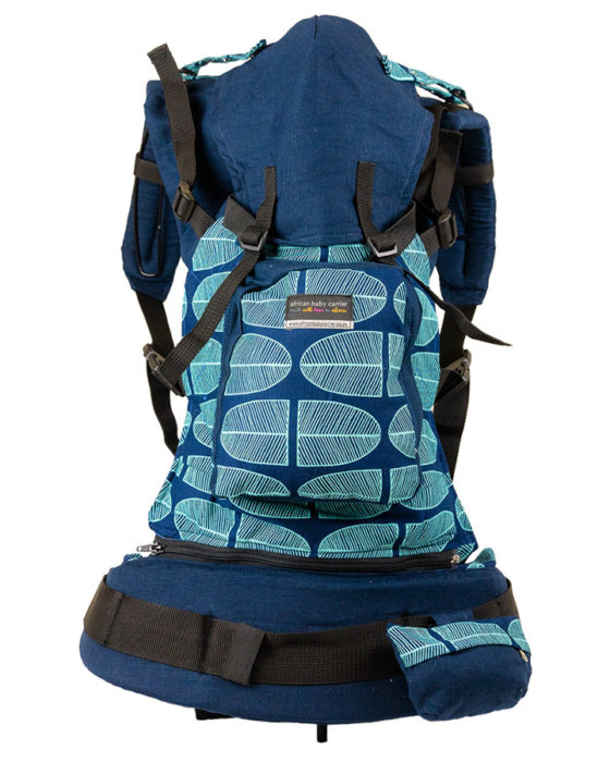 African Baby Carrier Denim Banana leaf