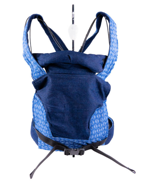 African Baby Carrier Denim Shweshwe